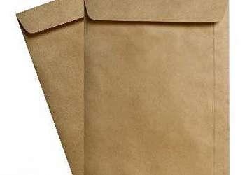 Envelope em papel kraft linhão