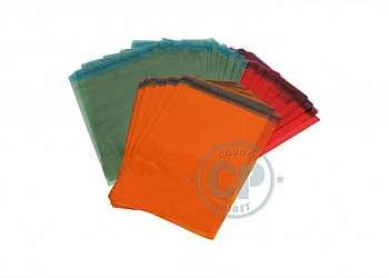 Envelope plástico com aba adesiva inviolável